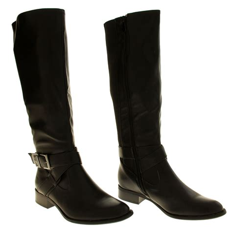work boots for with flat womens boots low heels flat knee high work boot office