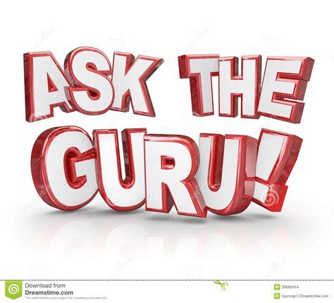 the official word of askcom ask the guru question 3d words help guidance stock