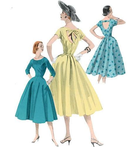 vintage swing dress pattern vintage retro butterick 1950s fifties swing dress sewing