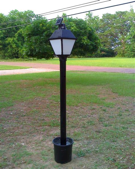 led l post light solar powered led l post all