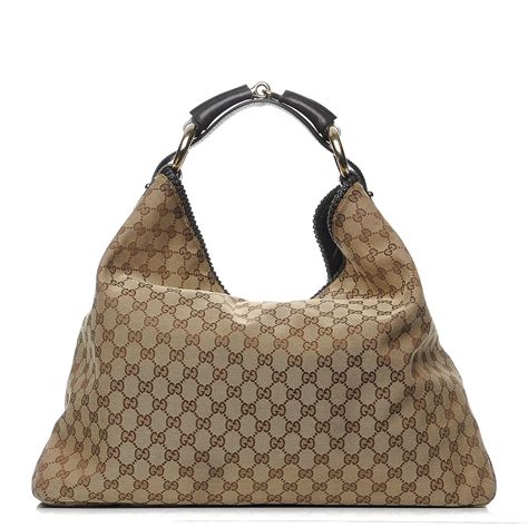 Gucci Chain Large Hobo by Gucci Monogram Large Horsebit Chain Hobo Brown 207022