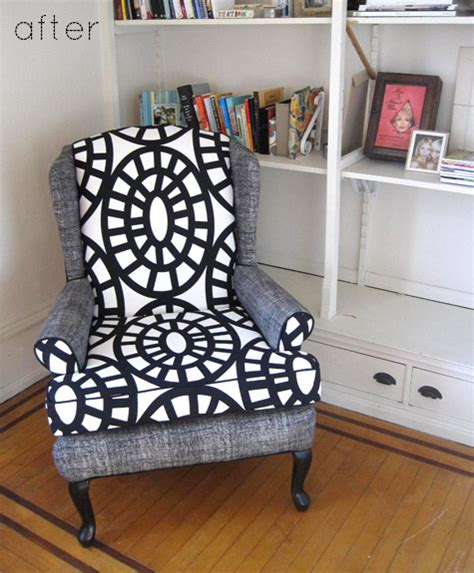 Chair Upholstery Ideas by Before After Modern Two Tone Sofa Chair Makeovers