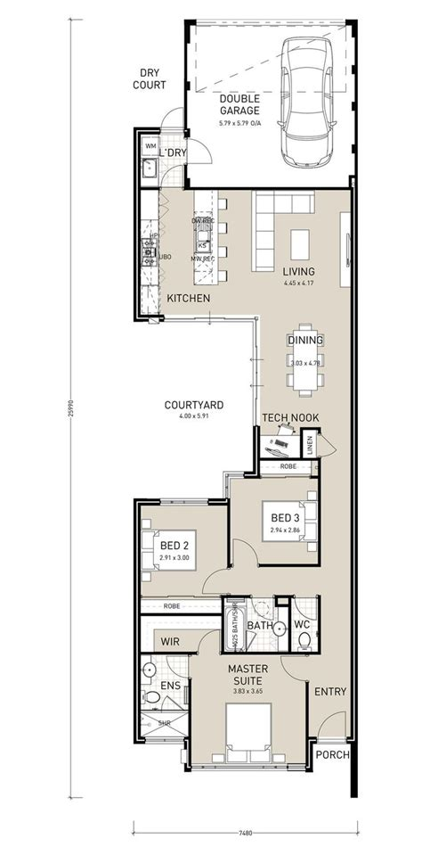 narrow lot house plans with basement 2017 house plans