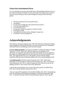 Phd Thesis Acknowledgement Template by Writing Thesis Acknowledgements Phrases