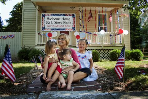 Military Welcome Home Decorations military homecoming ideas the chic site