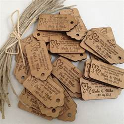 engraved wooden wedding gift tags personalised favours