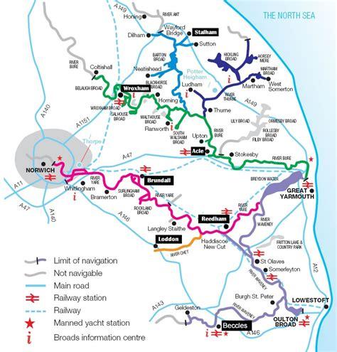 broad river map norfolk broads map distance charts broadland boat hire