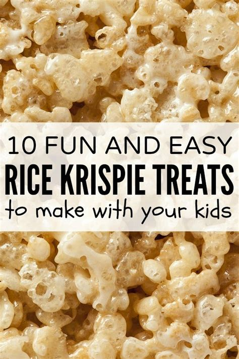 10 fun easy rice krispie treats to make with your kids will have kid and mice