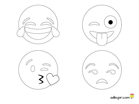 imagenes de emojis para dibujar los 4 emojis m 225 s usados en whatsapp para colorear 800x600