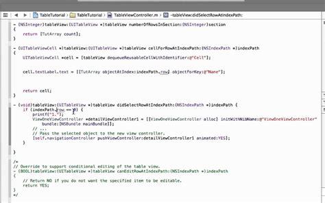 xcode uitableview tutorial xcode 5 0 uitableview custom detailview german