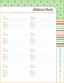printable address book template address book images
