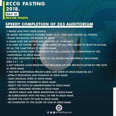 day of fasting 2018 rccg 2018 fast day 13 prayer points rccg 80 days