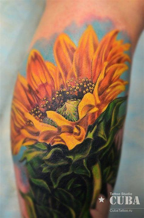 realistic sunflower tattoo all the best gorgeous sunflower designs tattoos