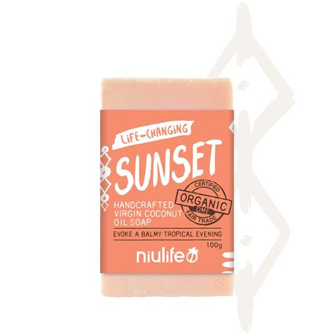 Coconut Soap 100g certified organic coconut soap sunset 100g