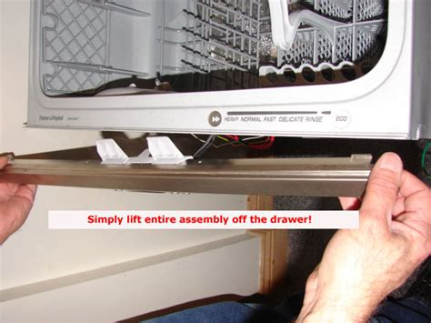 Fisher Paykel Dishwasher Drawer Removal by How To Remove Front Panel And Handle Assembly