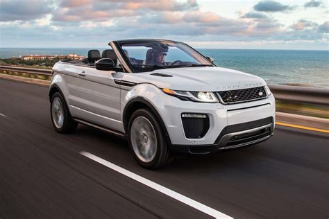 range rover evoque 2017 2017 range rover evoque convertible test motor trend