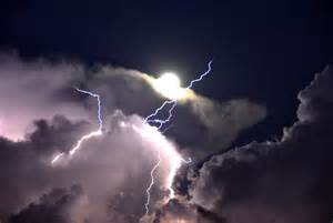 Lightning And Cloud Lightning And Thunder Proceed Out Of The Throne Of God In