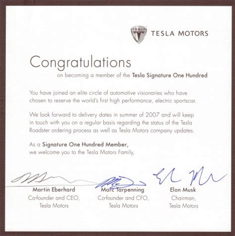 thank you letter to for new car tesla the origin story business insider