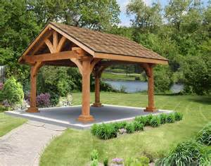 Gable Roof Gazebo Cut Cedar Gable Roof Open Rectangle Gazebos