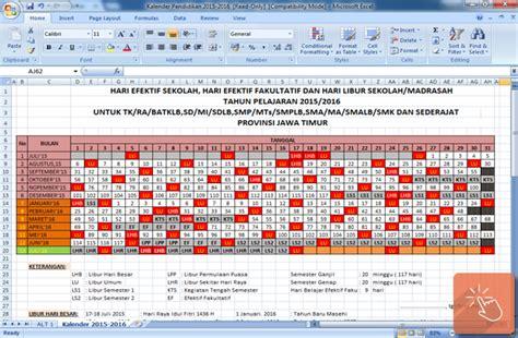 design kalender pendidikan kalender pendidikan 2015 2016 format microsoft excel