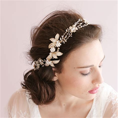 Handmade Wedding Headpieces - aliexpress buy handmade gold pearl bridal