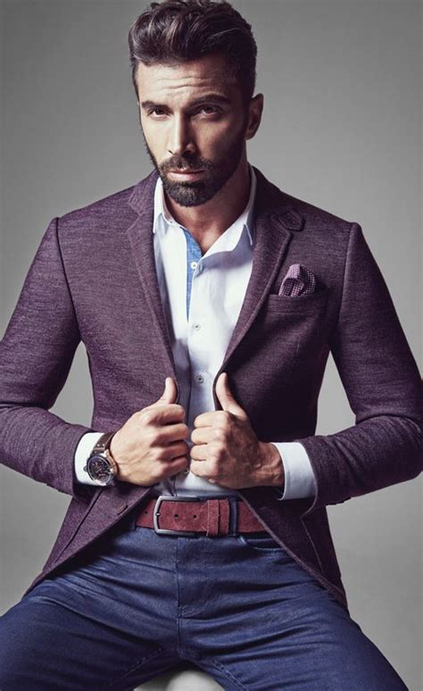 my guy on pinterest beards pocket squares and men wedding bands great casual but tailored look love the pocket square