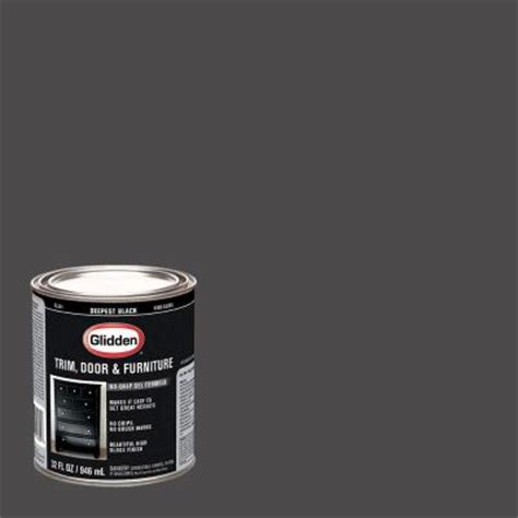 glidden trim and door 1 qt deepest black gloss interior exterior paint gl 301 04 the home