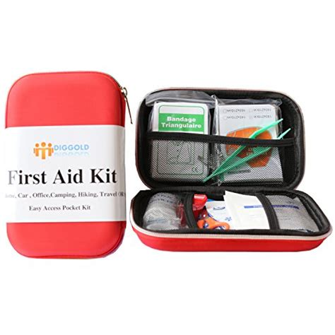 essential home items first aid kit survival box red cross medical kits 14 items waterproof portable essential