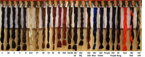 xpression braiding hair color chart x pression hair the beauticianchic hair and makeup studio
