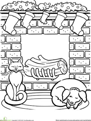 christmas coloring pages for 2nd grade christmas fireplace worksheet education com
