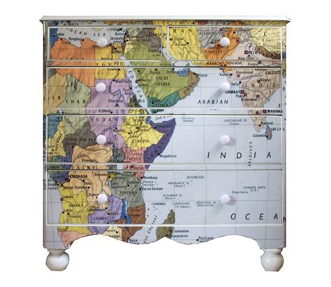 Decoupage Maps On Furniture - decoupage map wallpaper dressers map decor