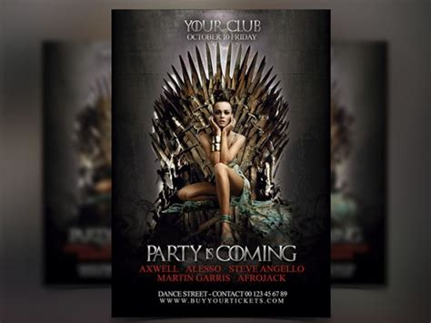 Flyers Templates Psd Download Graphicfy Flyer Designs Of Thrones Photoshop Template