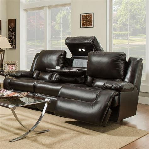franklin reclining sofa with drop table franklin excalibur 74344 power reclining sofa with