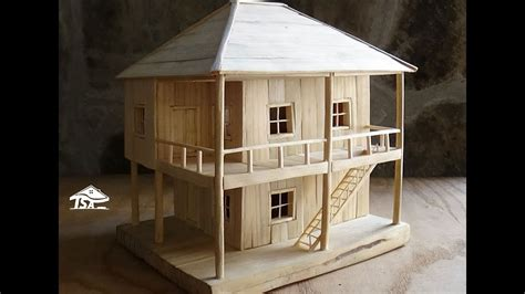 wooden model house youtube