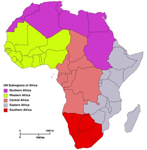 5 regions of africa map hello my world africa notes