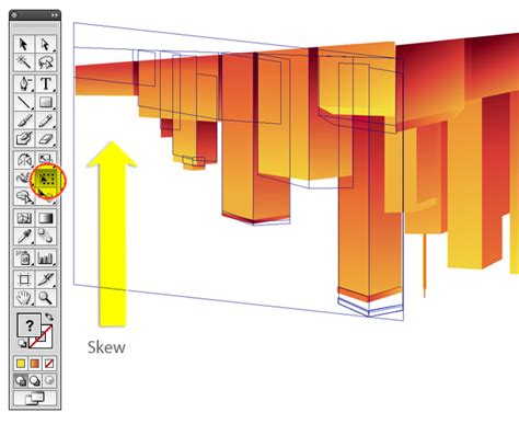transforming in perspective in illustrator creative beacon create a shimmering cityscape in perspective using