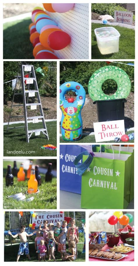 fun backyard party ideas cousin carnival backyard party ideas landeelu com