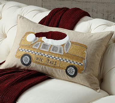 New York Embroidered Pillow by Nyc Yellow Taxi Embroidered Pillow Cover Pottery Barn
