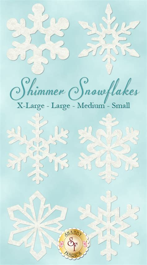laser cut shimmer snowflakes 4 sizes available