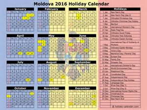 Republic Calendario 2018 Moldova 2016 2017 Calendar
