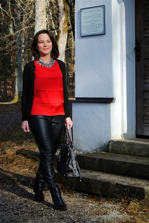 lady biker wear over 50 look lovely in leather pants here s how