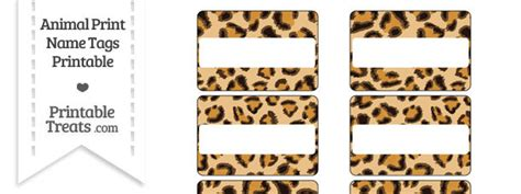 leopard pattern name leopard print name tags printable treats com