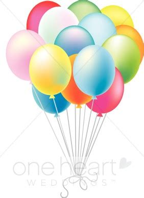 Colorful balloons clipart wedding decorations clipart