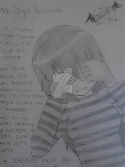 imagenes para dibujar sad anime triste dibujo by honakamisaki on deviantart