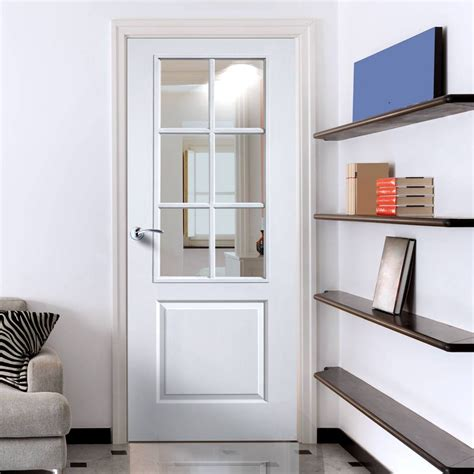 white with glass doors jbk faro white primed door with clear safety glass