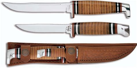 Ontario Kitchen Knives case knives case hunting knife twin finn two knife set