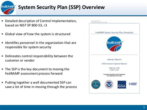 information system security plan template fedr developing system security plan slides