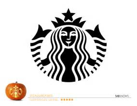 starbucks logo pumpkin carving template free printable coloring pages
