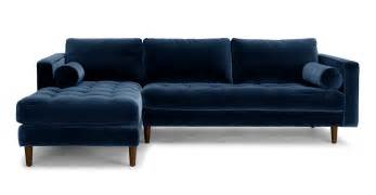 Scandinavian Decor sven cascadia blue left sectional sofa sectionals