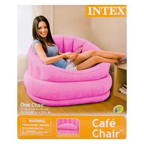 blow up armchair pink inflatable air blow up arm chair couch sofa seat lounge armchair portable ebay